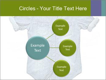 Blue jean shirt PowerPoint Template - Slide 79