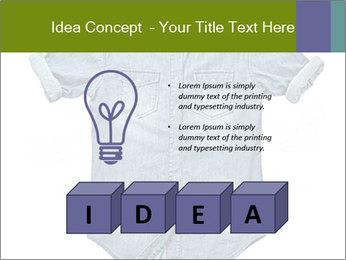 Blue jean shirt PowerPoint Template - Slide 80