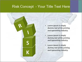 Blue jean shirt PowerPoint Template - Slide 81