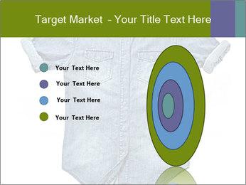 Blue jean shirt PowerPoint Template - Slide 84