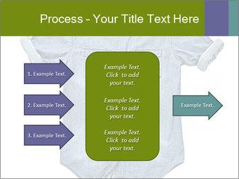 Blue jean shirt PowerPoint Template - Slide 85