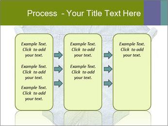 Blue jean shirt PowerPoint Template - Slide 86