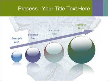 Blue jean shirt PowerPoint Template - Slide 87