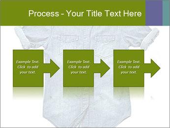 Blue jean shirt PowerPoint Template - Slide 88
