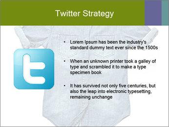 Blue jean shirt PowerPoint Template - Slide 9