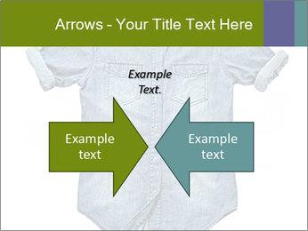 Blue jean shirt PowerPoint Template - Slide 90