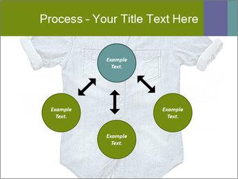 Blue jean shirt PowerPoint Template - Slide 91