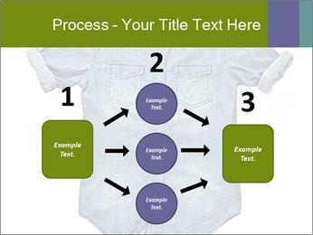 Blue jean shirt PowerPoint Template - Slide 92
