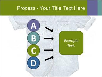 Blue jean shirt PowerPoint Template - Slide 94