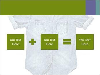 Blue jean shirt PowerPoint Template - Slide 95