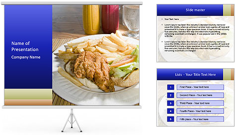 Sandwich Caribbean style PowerPoint Template