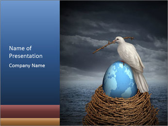 Global Peace PowerPoint Template - Slide 1