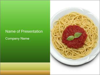 Italian pasta PowerPoint Template - Slide 1