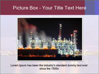 Derrick at night PowerPoint Template - Slide 15
