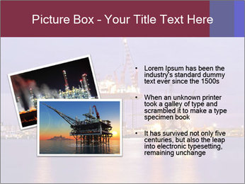 Derrick at night PowerPoint Template - Slide 20