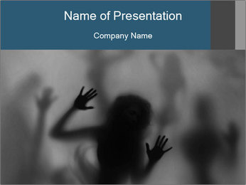 Mysterious woman PowerPoint Template