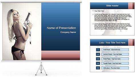 Beautiful slim sexy blond PowerPoint Template
