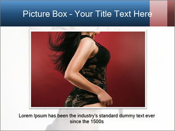 Beautiful slim sexy blond PowerPoint Template - Slide 15