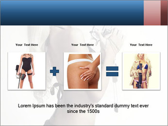 Beautiful slim sexy blond PowerPoint Template - Slide 22