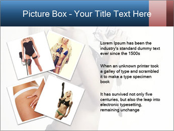 Beautiful slim sexy blond PowerPoint Template - Slide 23