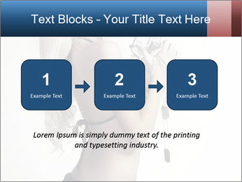 Beautiful slim sexy blond PowerPoint Template - Slide 71