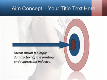 Beautiful slim sexy blond PowerPoint Template - Slide 83