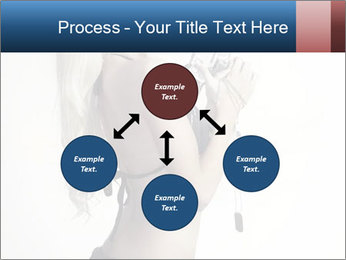 Beautiful slim sexy blond PowerPoint Template - Slide 91