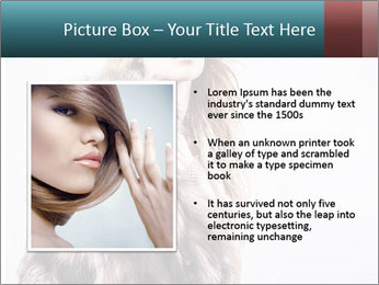 Attractive girl in a fur coat PowerPoint Template - Slide 13
