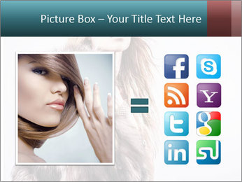 Attractive girl in a fur coat PowerPoint Template - Slide 21
