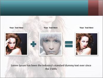 Attractive girl in a fur coat PowerPoint Template - Slide 22