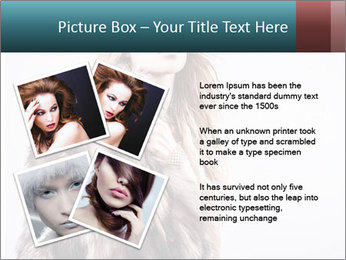 Attractive girl in a fur coat PowerPoint Template - Slide 23