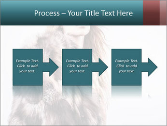 Attractive girl in a fur coat PowerPoint Template - Slide 88