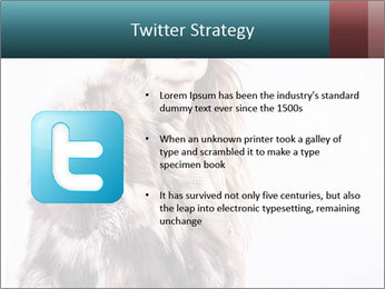 Attractive girl in a fur coat PowerPoint Template - Slide 9