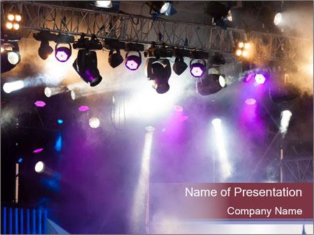 Many spotlights PowerPoint Templates