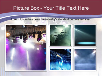 Many spotlights PowerPoint Template - Slide 19