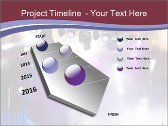 Many spotlights PowerPoint Template - Slide 26