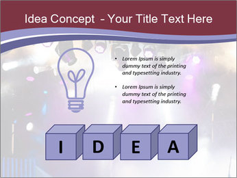 Many spotlights PowerPoint Template - Slide 80
