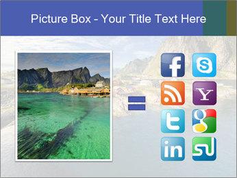 Scenic fjord on Lofoten islands PowerPoint Template - Slide 21
