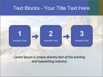 Scenic fjord on Lofoten islands PowerPoint Template - Slide 71