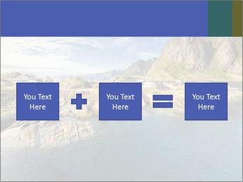 Scenic fjord on Lofoten islands PowerPoint Template - Slide 95