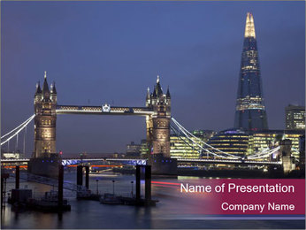 Tower Bridge PowerPoint Template - Slide 1