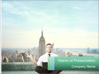 Man thinking PowerPoint Template