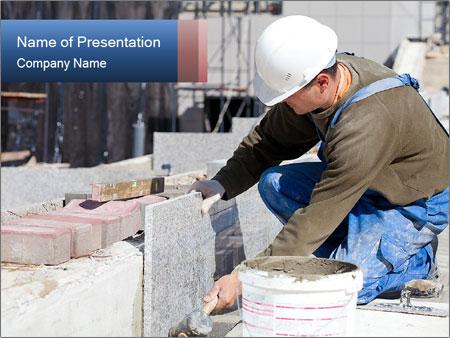 Tiler in helmet PowerPoint Templates