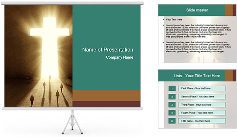 People walking PowerPoint Template