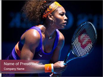Tennis player PowerPoint Template - Slide 1