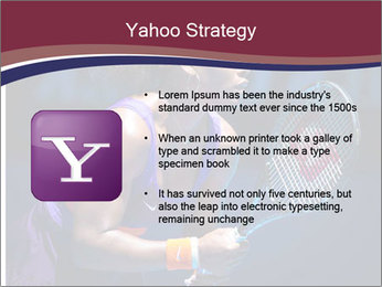 Tennis player PowerPoint Template - Slide 11