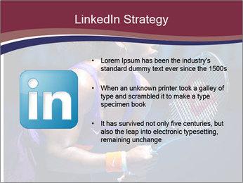 Tennis player PowerPoint Template - Slide 12