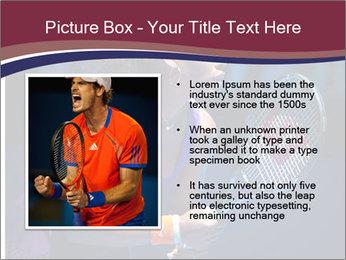 Tennis player PowerPoint Template - Slide 13