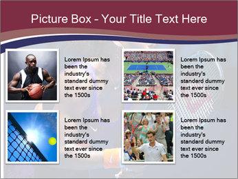 Tennis player PowerPoint Template - Slide 14
