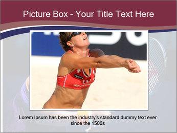 Tennis player PowerPoint Template - Slide 15